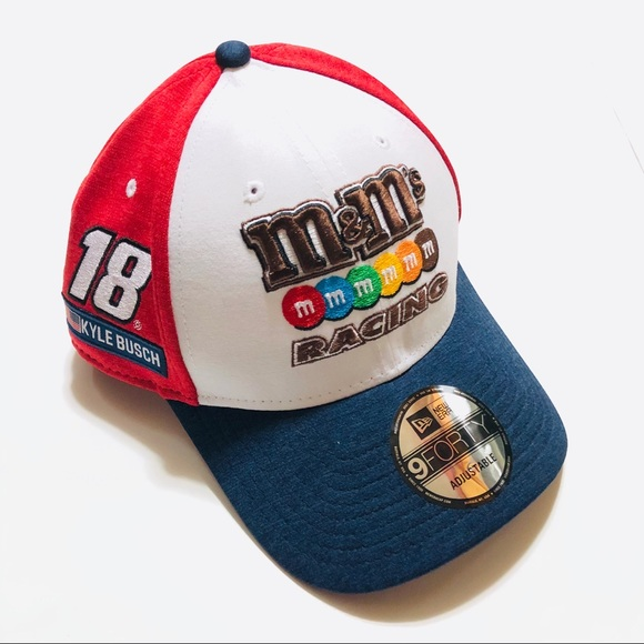 New Era Other - Kyle Busch NASCAR M&M's Racing Logo Hat Adjustable